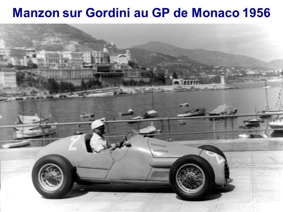 Manzon sur Gordini au GP de Monaco 1956