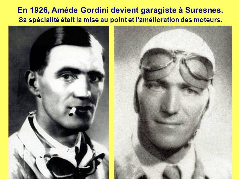 En 1926, Améde Gordini devient garagiste à Suresnes.