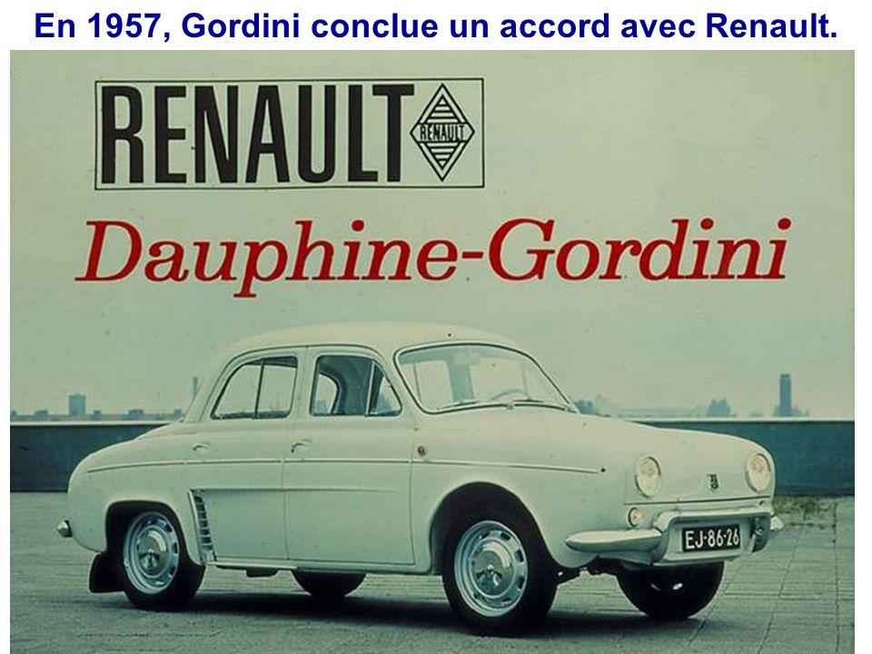 En 1957, Gordini conclue un accord avec Renault.