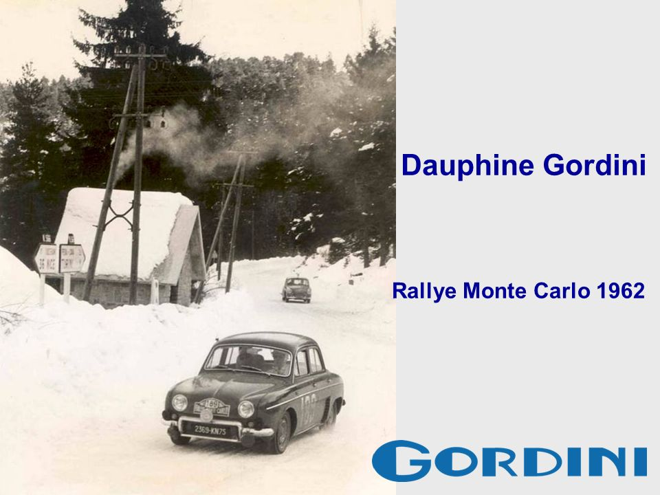 Dauphine Gordini Rallye Monte Carlo 1962