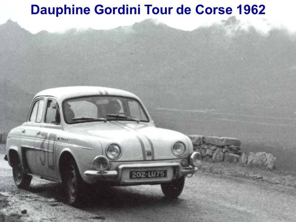 Dauphine Gordini Tour de Corse 1962