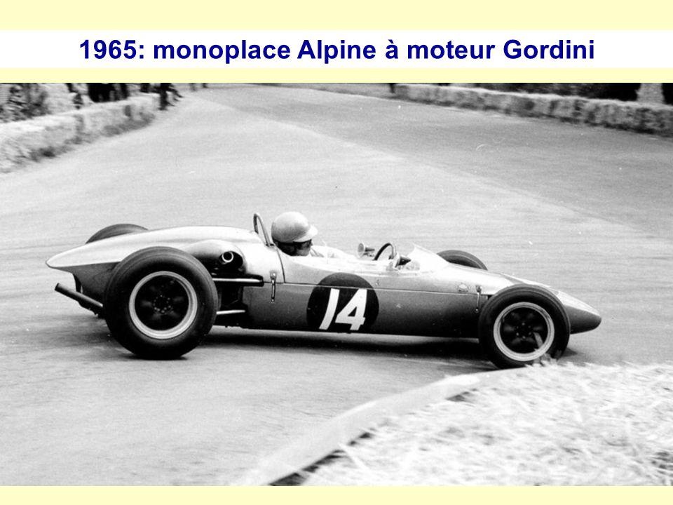 1965: monoplace Alpine à moteur Gordini