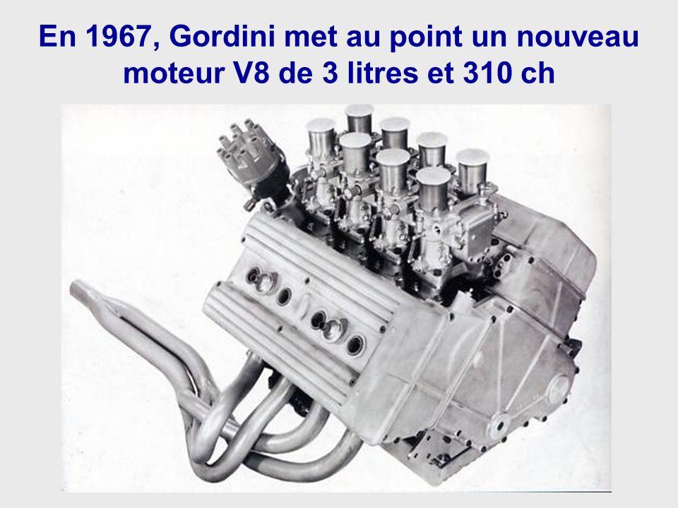En 1967, Gordini met au point un nouveau moteur V8 de 3 litres et 310 ch