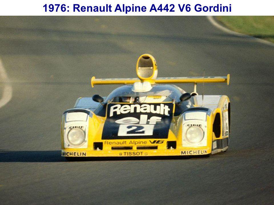 1976: Renault Alpine A442 V6 Gordini
