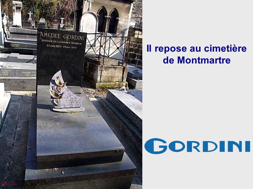 Il repose au cimetière de Montmartre