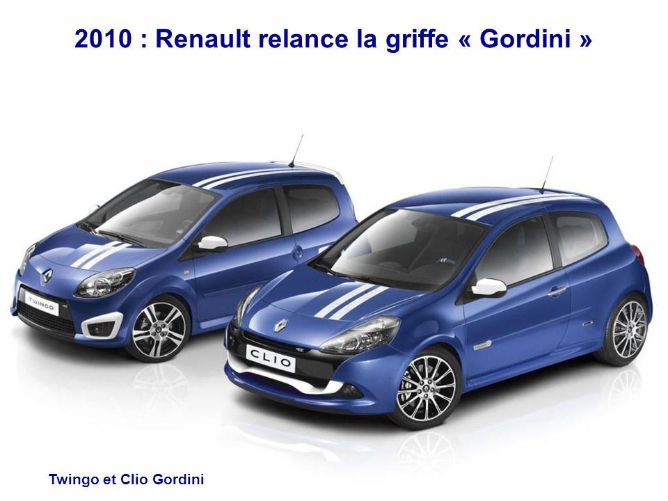2010 : Renault relance la griffe « Gordini »