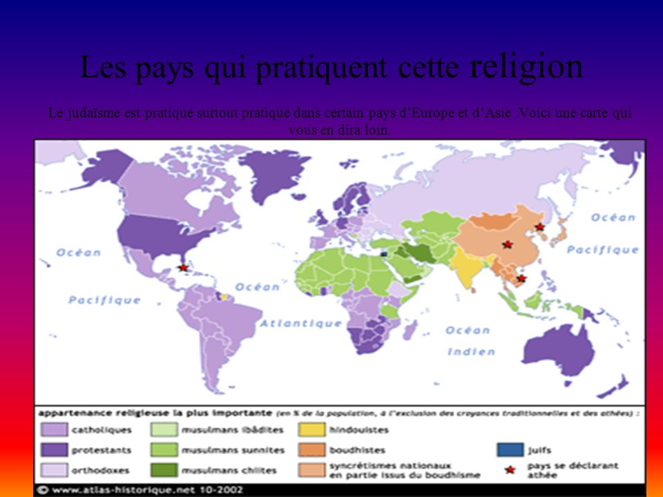 Les pays qui pratiquent cette religion