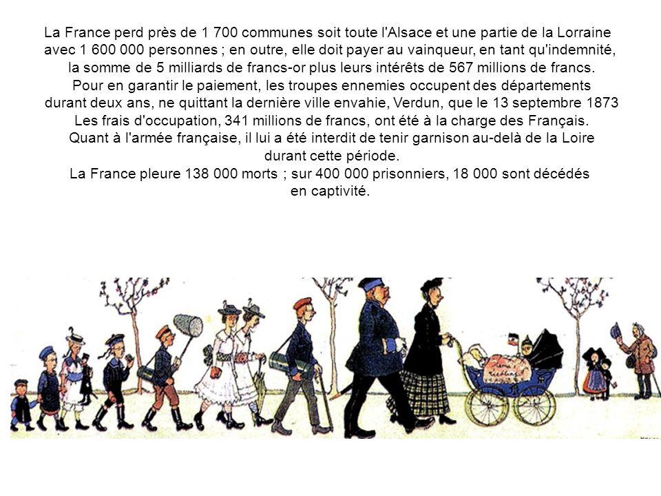 La France perd près de 1 700 communes soit toute l Alsace et une partie de la Lorraine