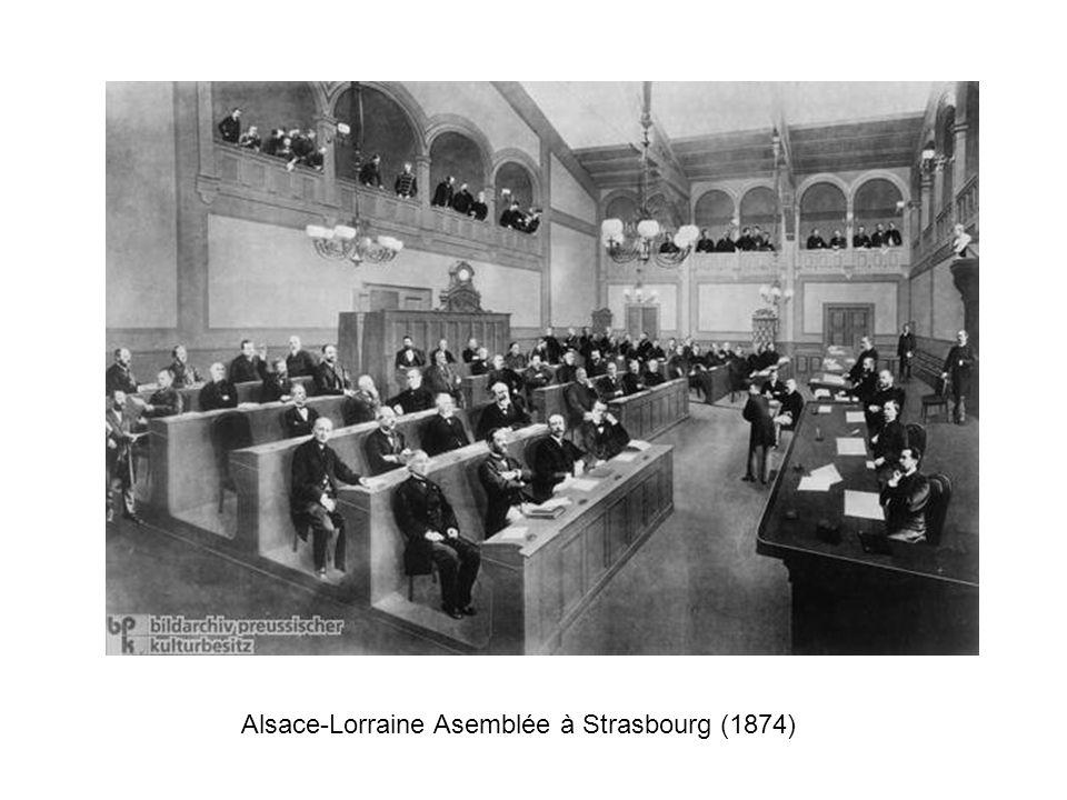 Alsace-Lorraine Asemblée à Strasbourg (1874)