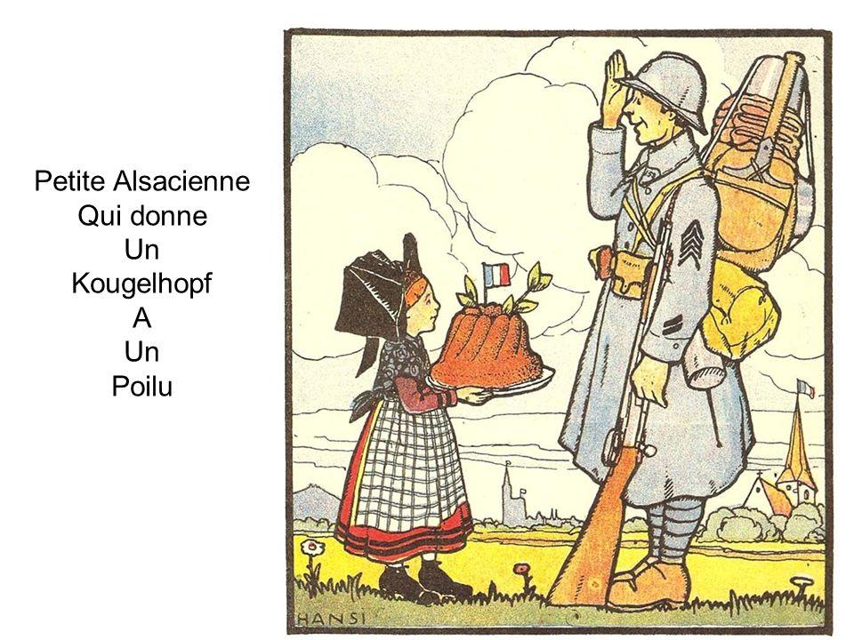 Petite Alsacienne Qui donne Un Kougelhopf A Poilu
