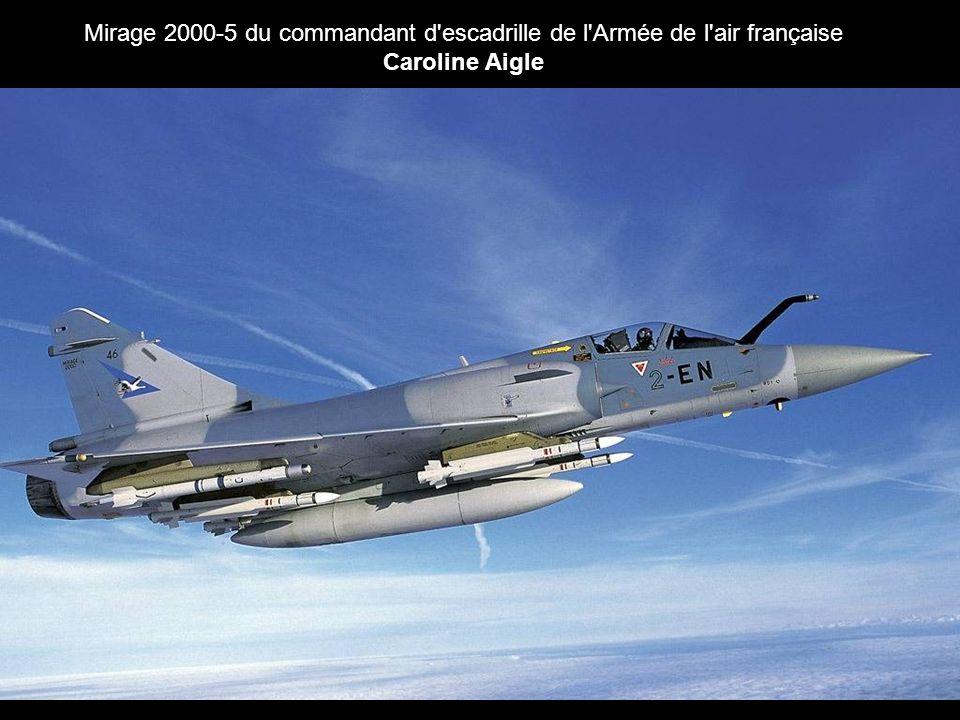 Mirage 2000-5 du commandant d escadrille de l Armée de l air française Caroline Aigle
