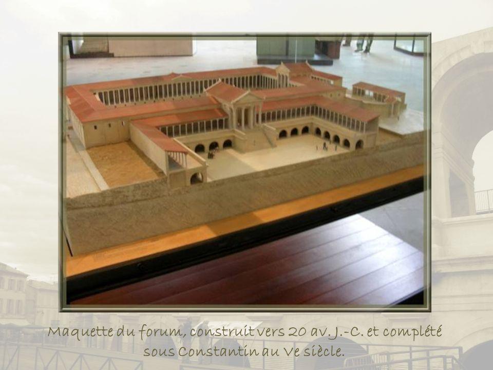 Maquette du forum, construit vers 20 av. J. -C