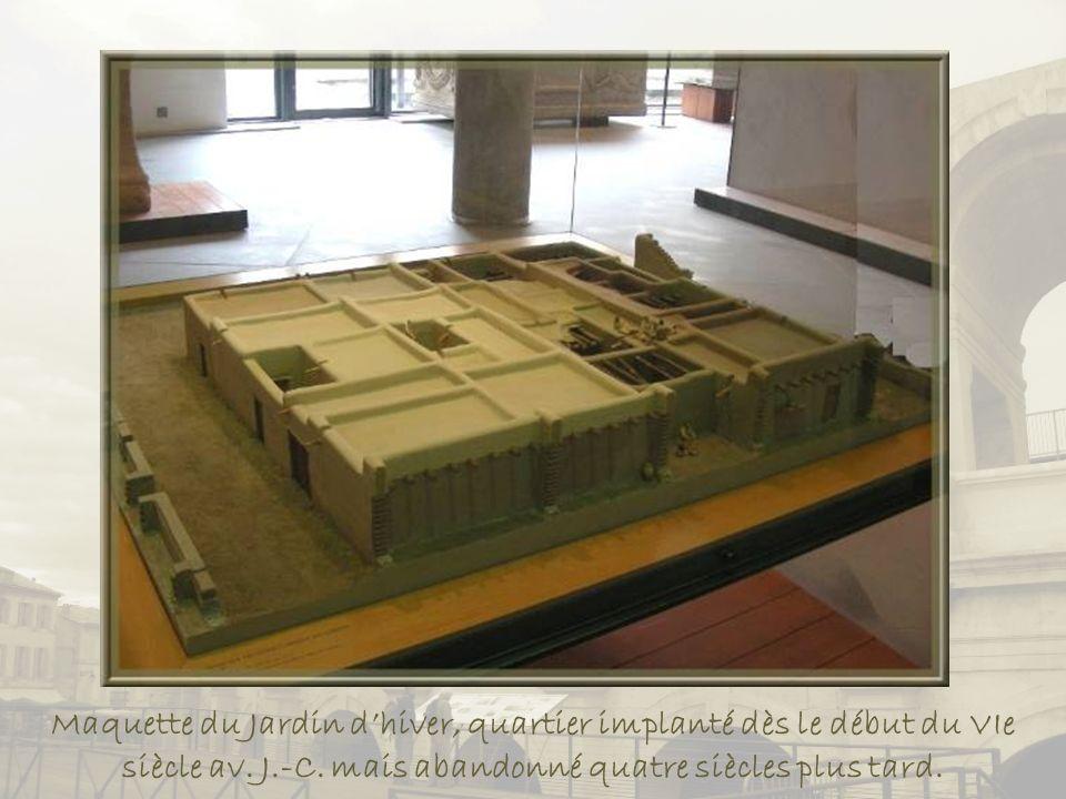 Maquette du Jardin d'hiver, quartier implanté dès le début du VIe siècle av.