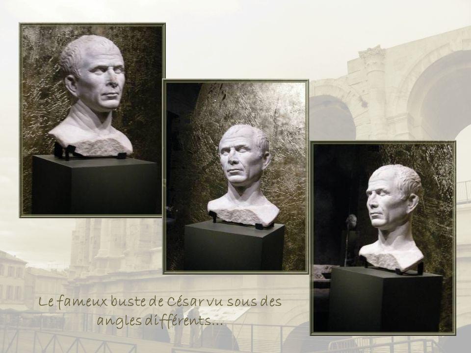 Le fameux buste de César vu sous des angles différents…