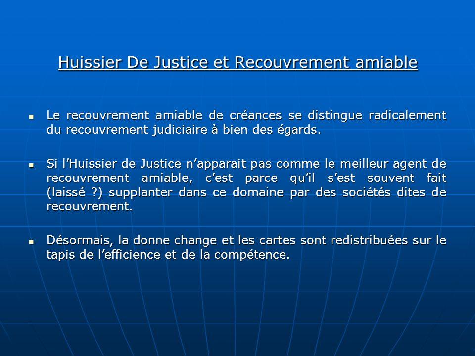 Huissier De Justice et Recouvrement amiable