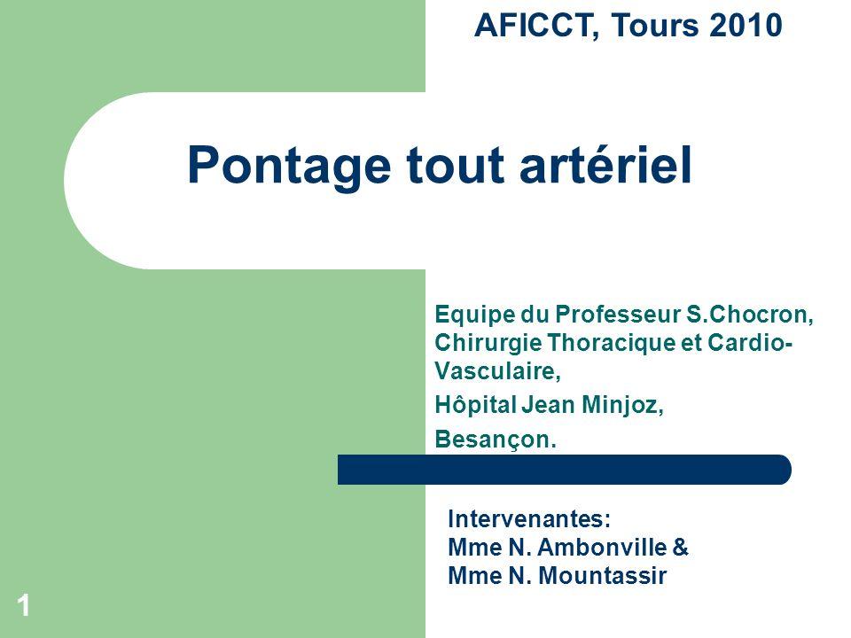 Pontage tout artériel AFICCT, Tours 2010 1