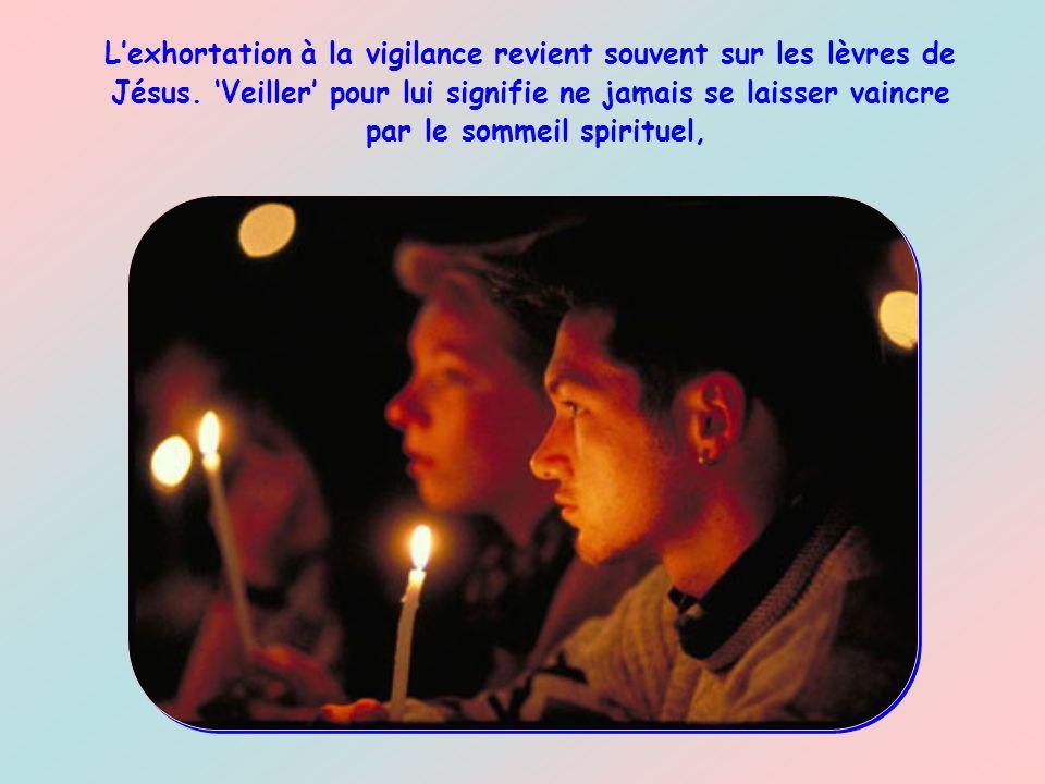 L'exhortation à la vigilance revient souvent sur les lèvres de Jésus