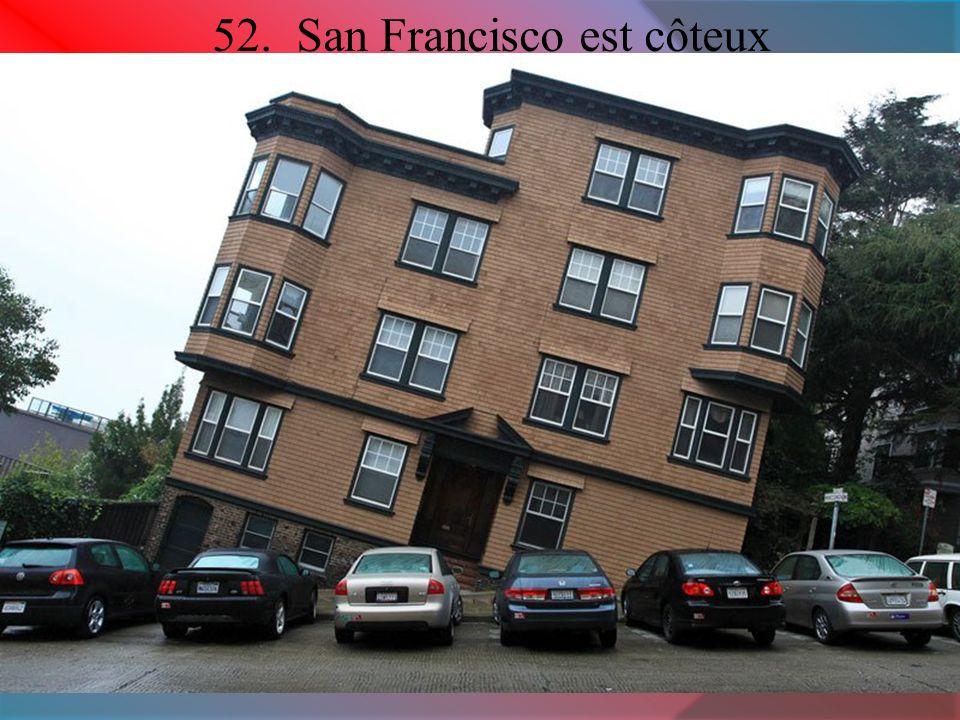 52. San Francisco est côteux