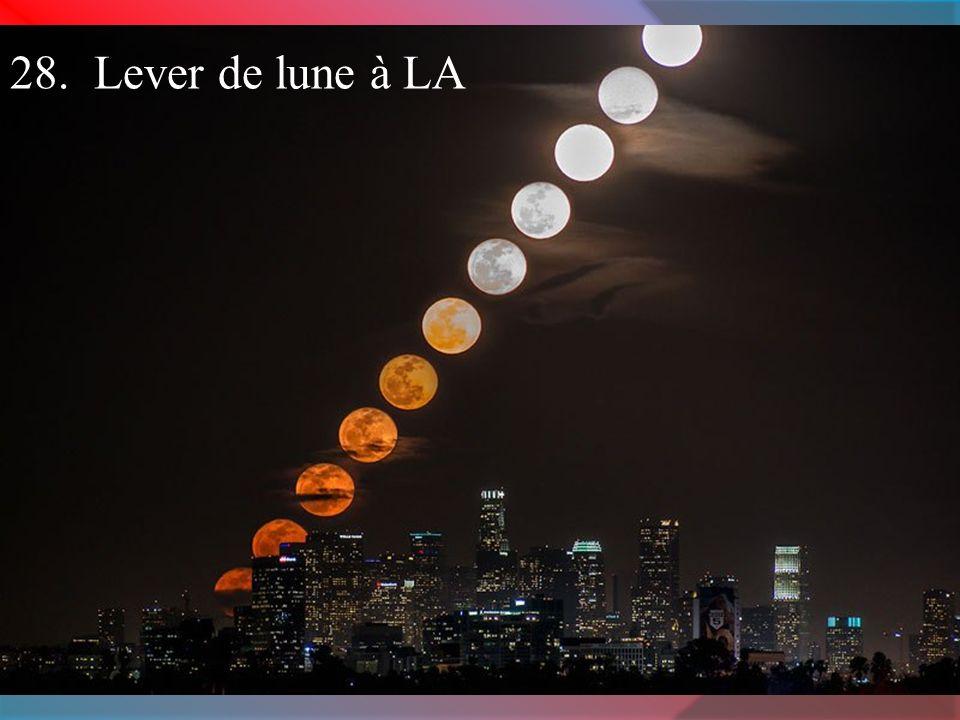 28. Lever de lune à LA