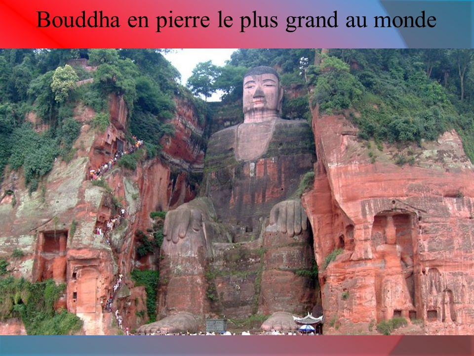 Bouddha en pierre le plus grand au monde