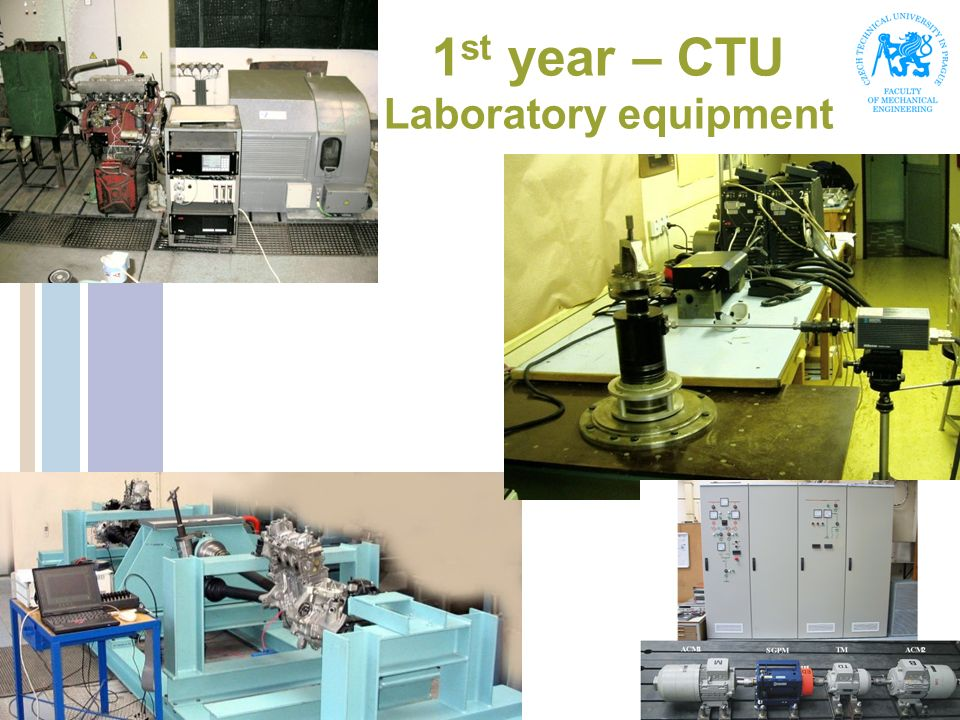 1st year – CTU Laboratory equipment
