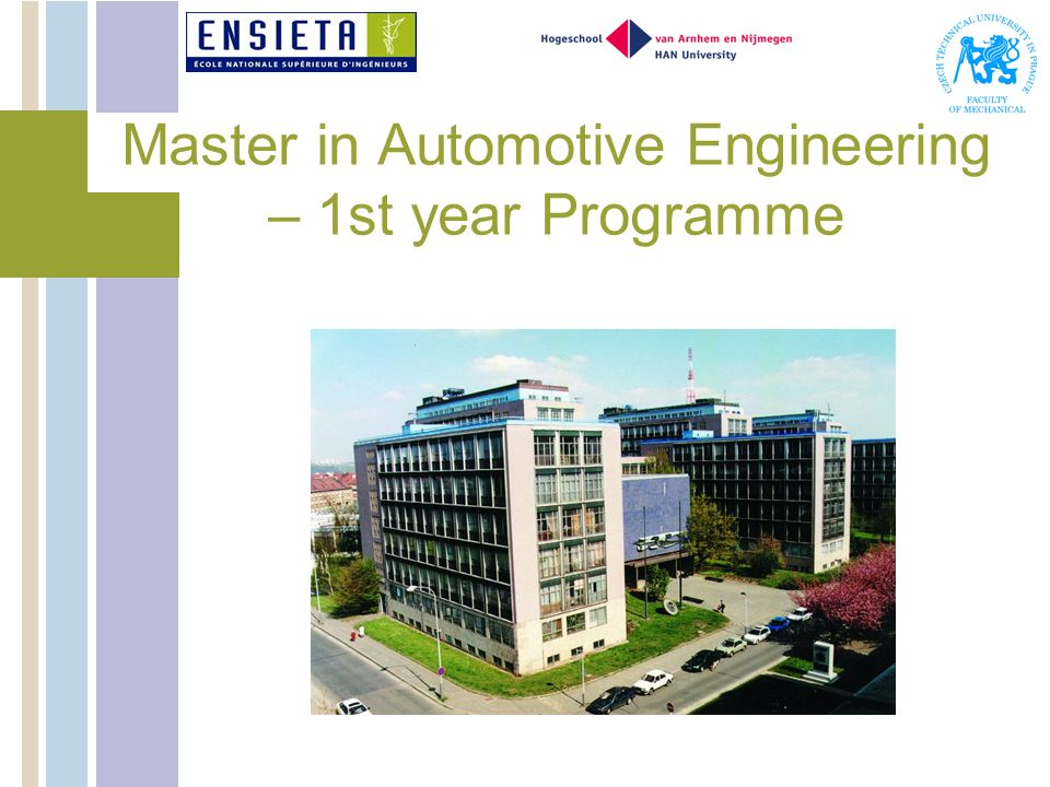 Master in Automotive Engineering – 1st year Programme