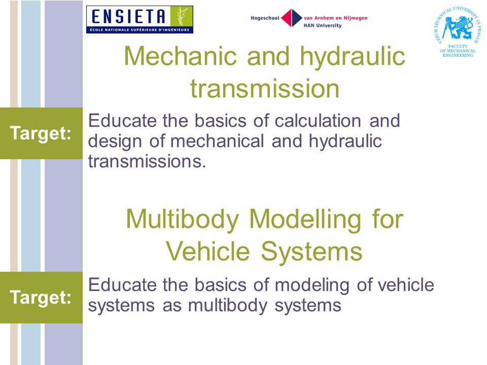 Mechanic and hydraulic transmission
