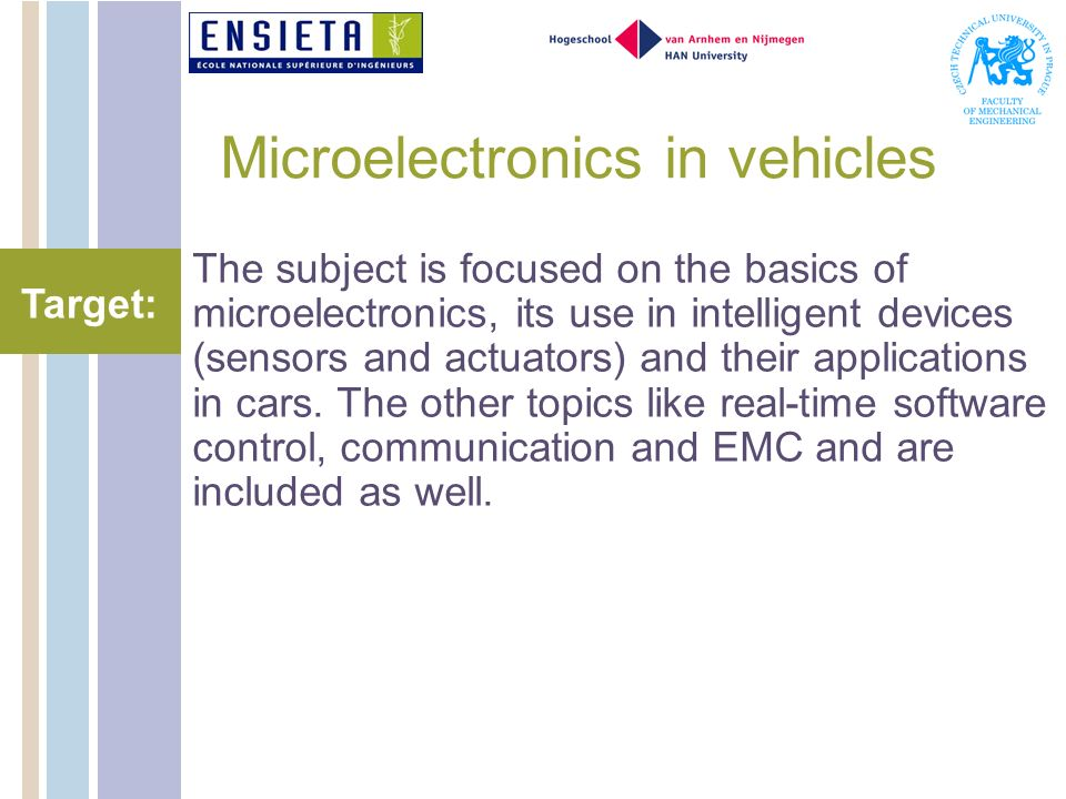 Microelectronics in vehicles