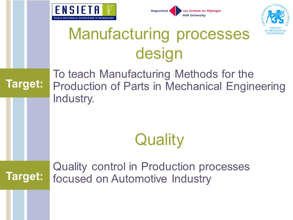 Manufacturing processes design