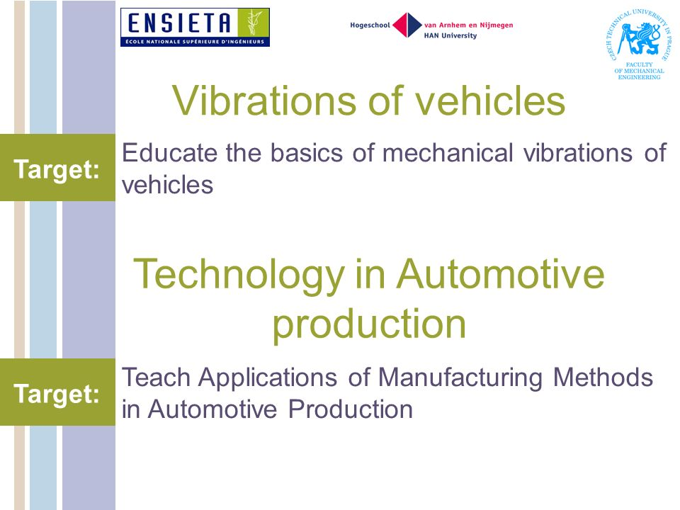 Vibrations of vehicles