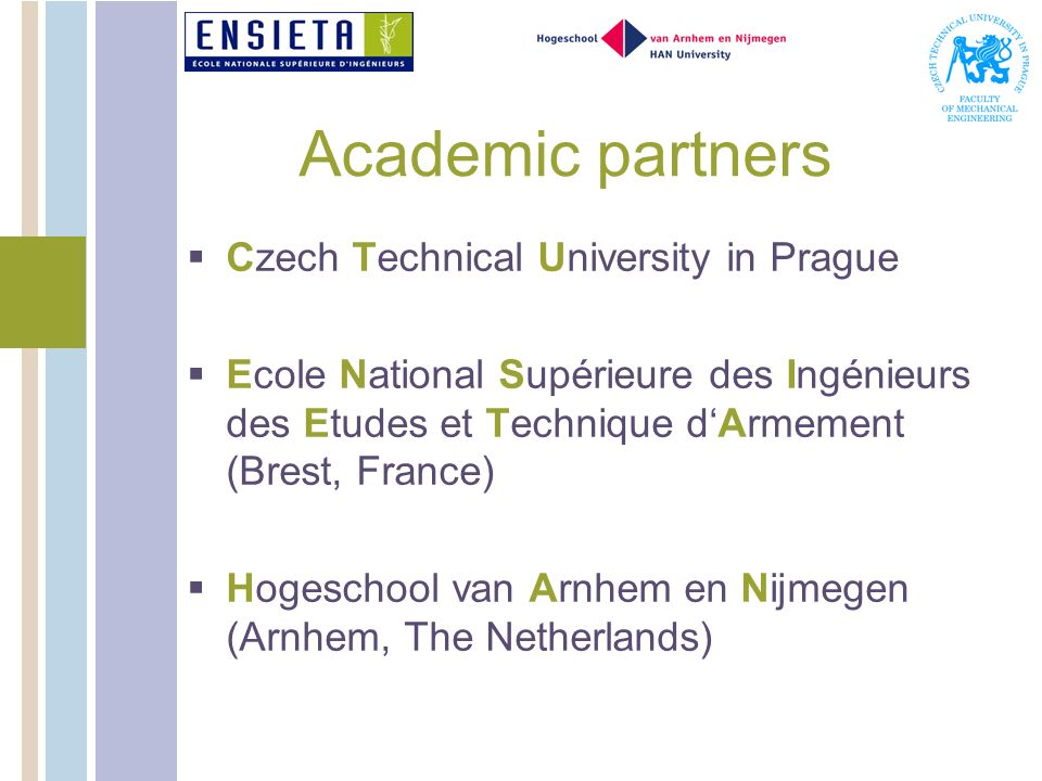 Academic partners Czech Technical University in Prague