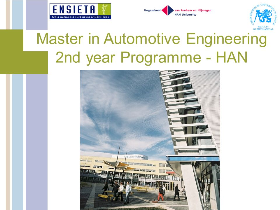Master in Automotive Engineering 2nd year Programme - HAN