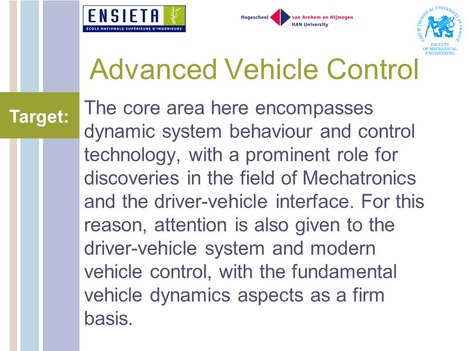 Advanced Vehicle Control