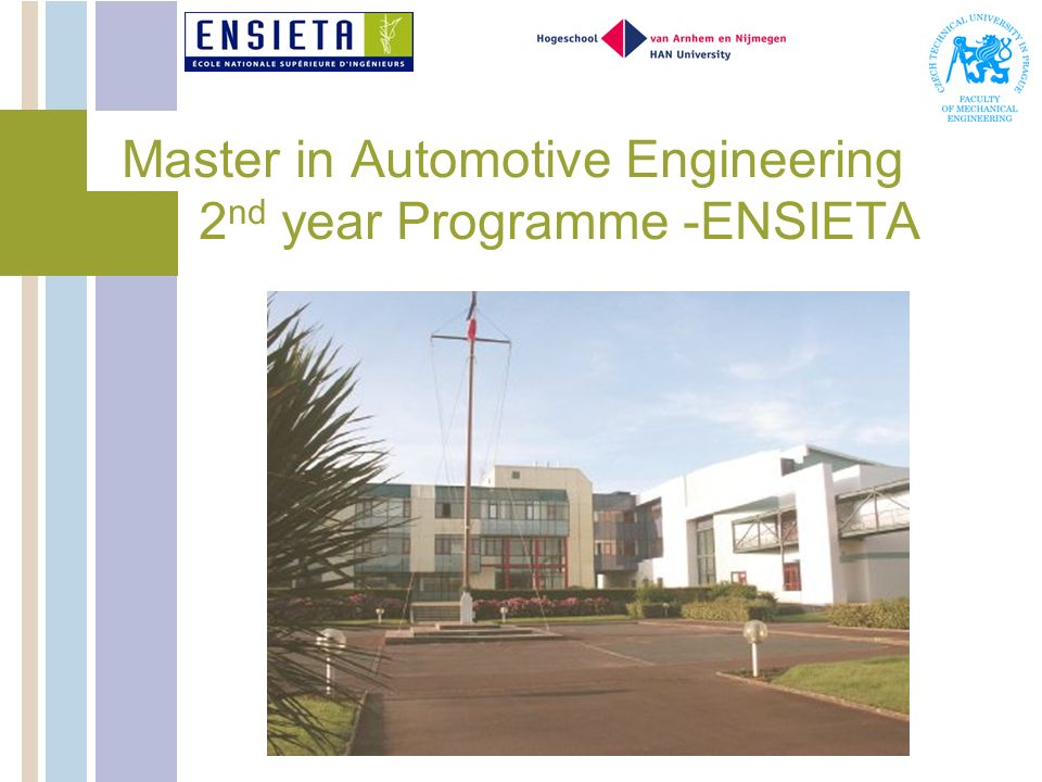 Master in Automotive Engineering 2nd year Programme -ENSIETA