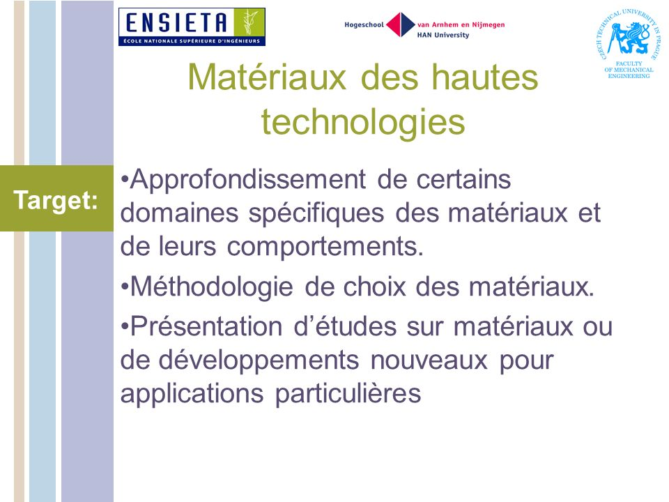 Matériaux des hautes technologies