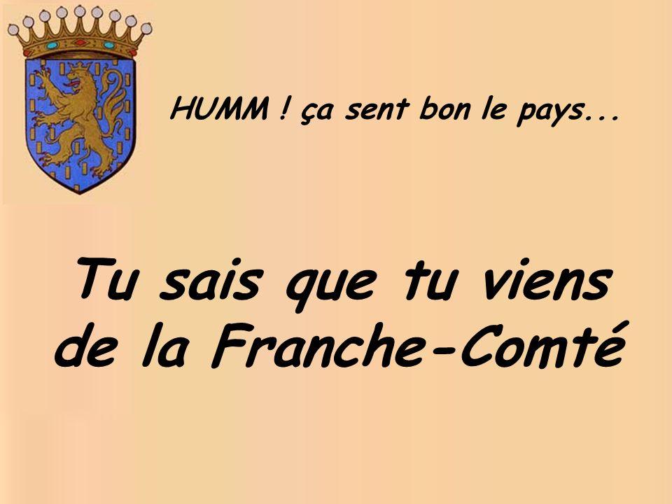 Tu sais que tu viens de la Franche-Comté