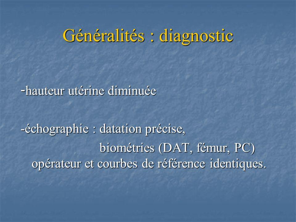 Généralités : diagnostic