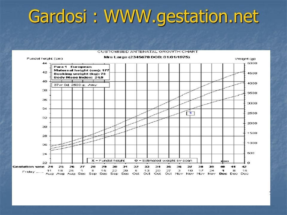 Gardosi : WWW.gestation.net