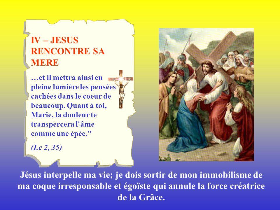 IV – JESUS RENCONTRE SA MERE