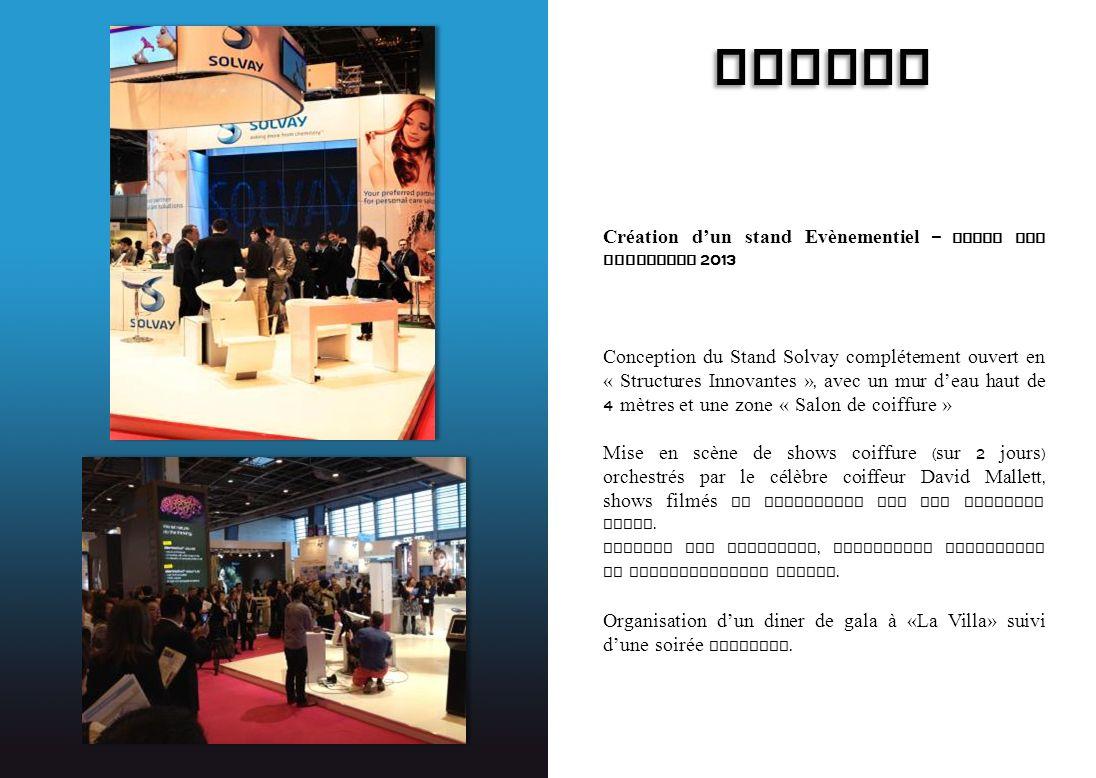 SOLVAY Création d'un stand Evènementiel – Salon In- Cosmetics 2013