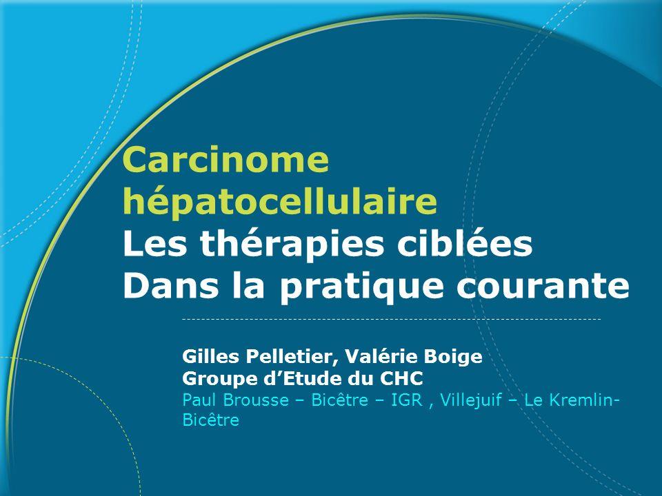 Carcinome hépatocellulaire Les thérapies ciblées