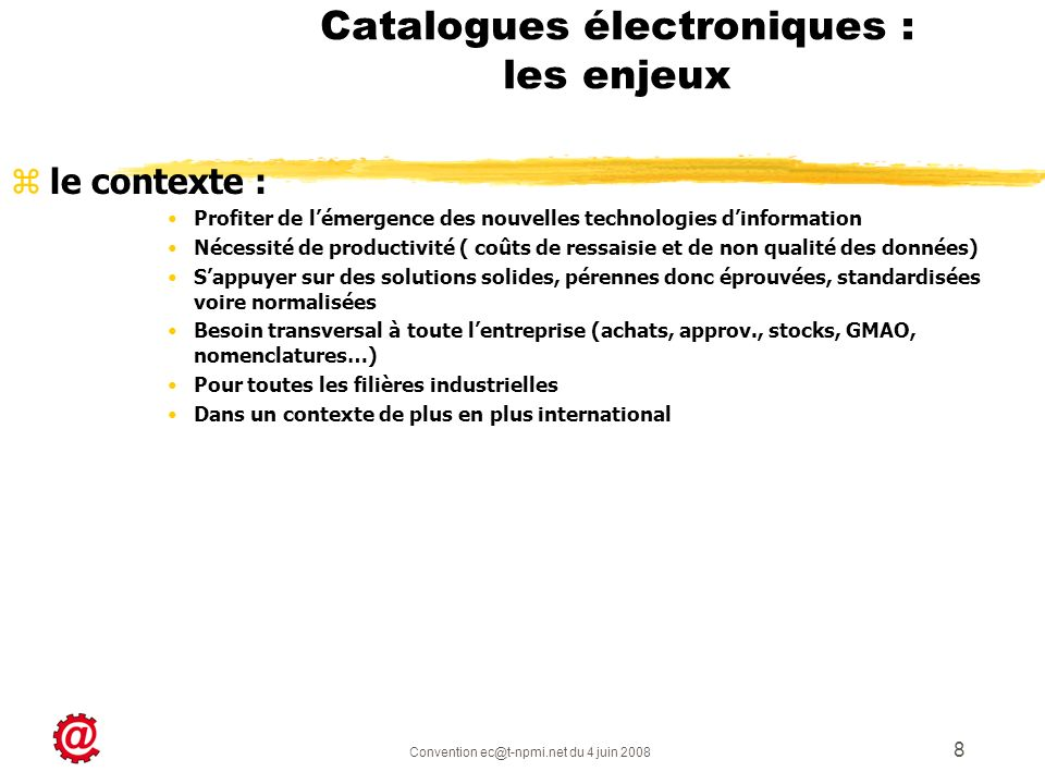 Catalogues électroniques : les enjeux