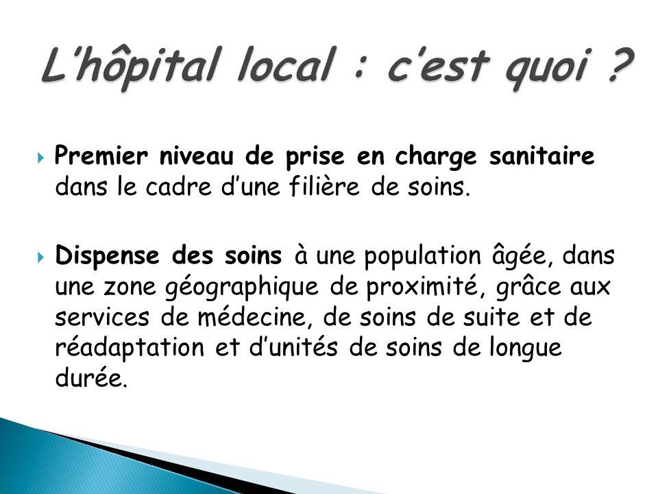 L'hôpital local : c'est quoi