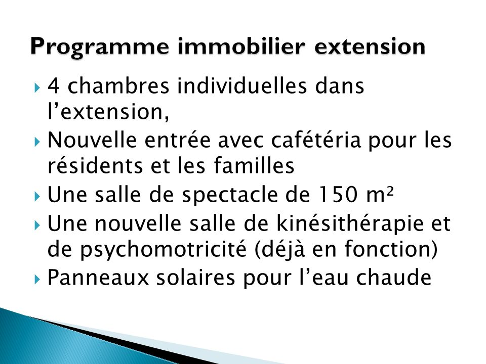 Programme immobilier extension