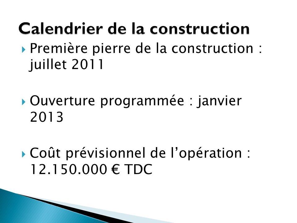Calendrier de la construction