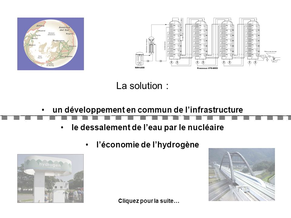 La solution : un développement en commun de l'infrastructure