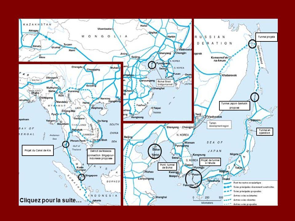 en Asie Cliquez pour la suite… Pont terrestre eurasiatique