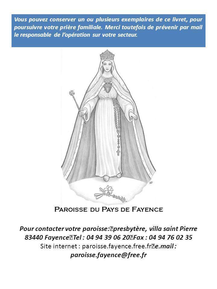 Pour contacter votre paroisse: presbytère, villa saint Pierre