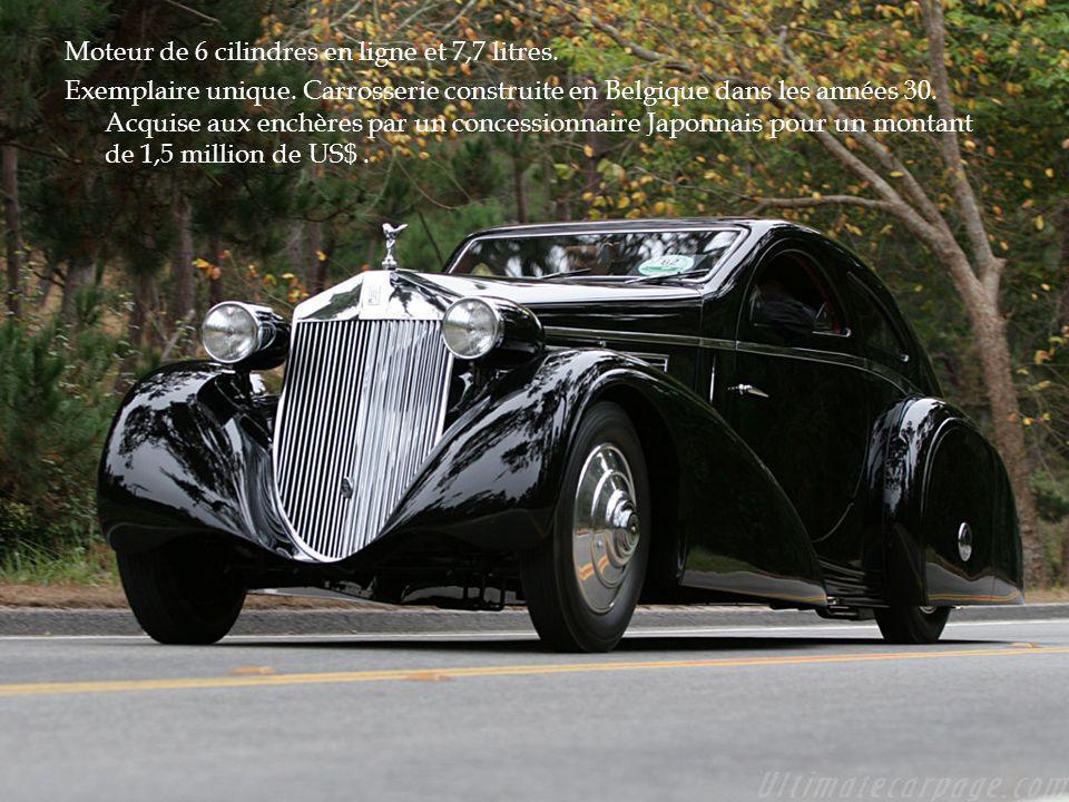 Moteur de 6 cilindres en ligne et 7,7 litres.