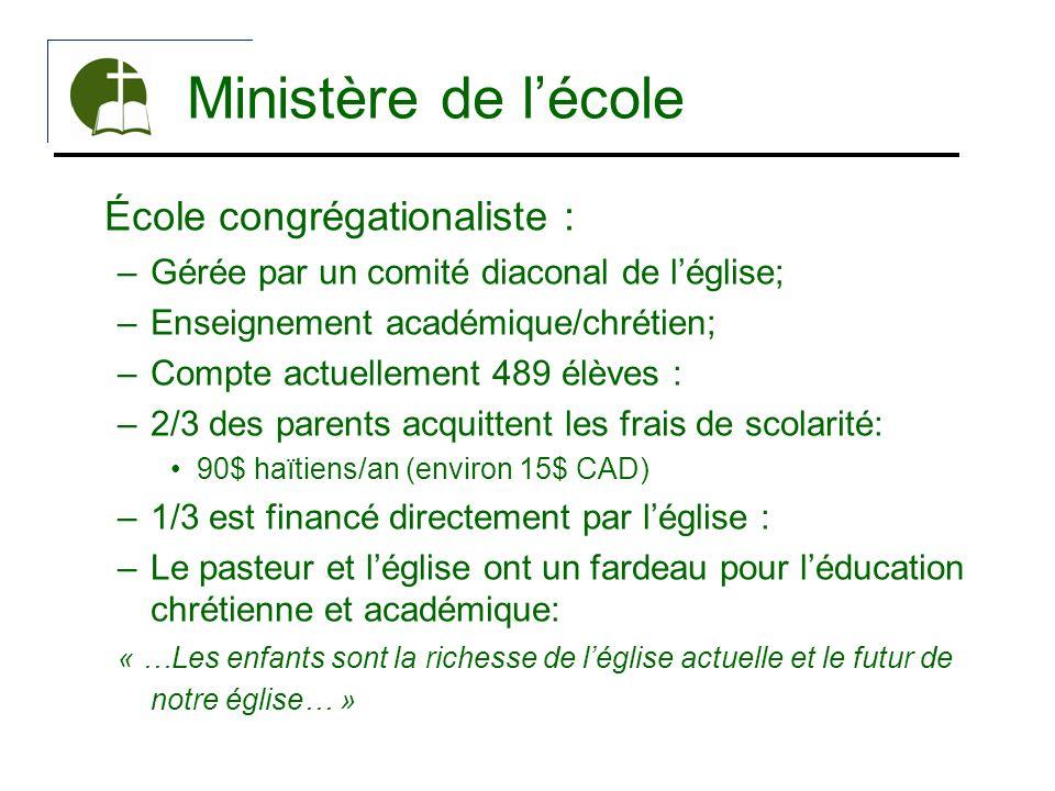 Ministère de l'école École congrégationaliste :